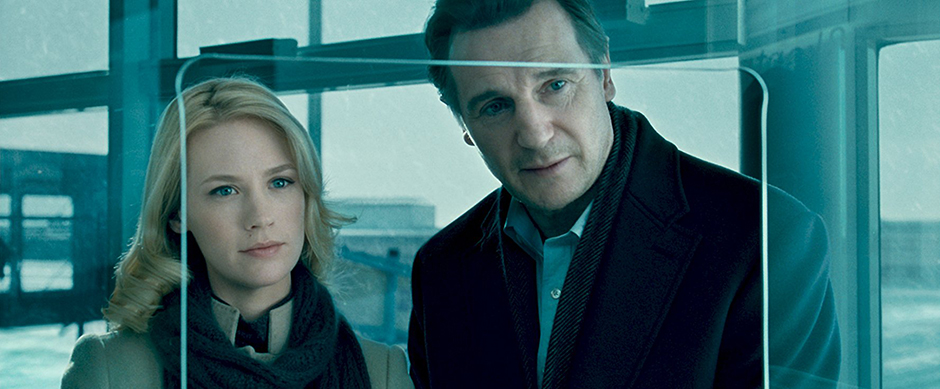Liam Neeson and January Jones in Unknown - Credit IMDB