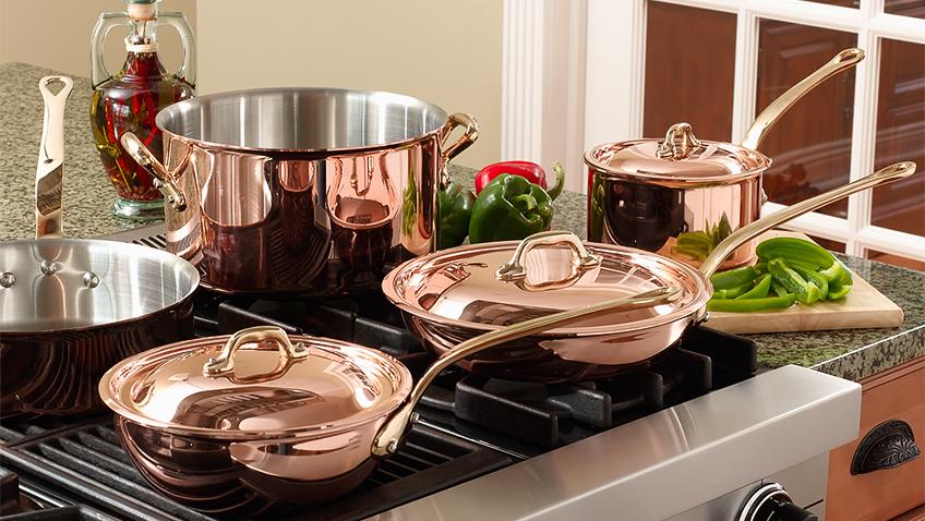 Copper pans - Credit MAAS