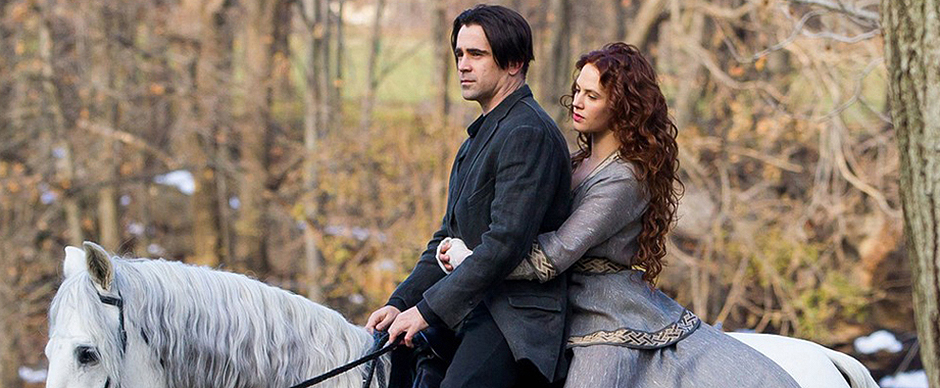 Colin Farrell and Jessica Brown Findlay in Winter's Tale - Credit IMDB