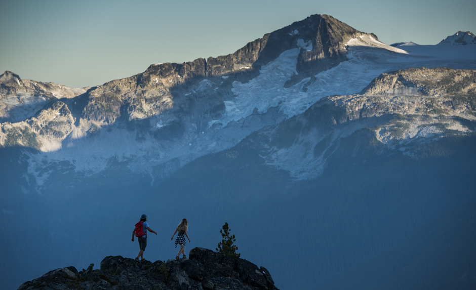 Hiking on top of Whistler Mountain - Credit Destination BC/Blake Jorgenson