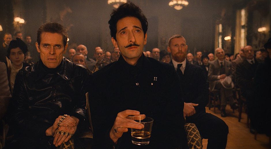 Willem Dafoe and Adrien Brody in The Grand Budapest Hotel - Credit IMDB