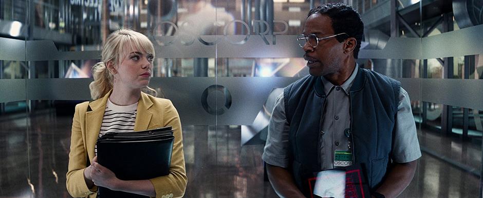 Jamie Foxx and Emma Stone in The Amazing Spider-Man 2 - Credit IMDB