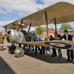 First World War aircraft moved into place