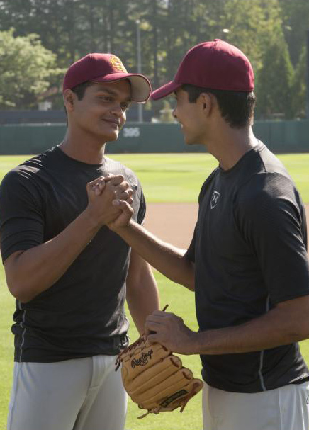Madhur Mittal and Suraj Sharma in Million Dollar Arm - © 2013 - Disney Enterprises Inc. - Credit IMDB