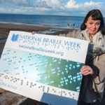 Top novelist helps launch National Braille Week 2014