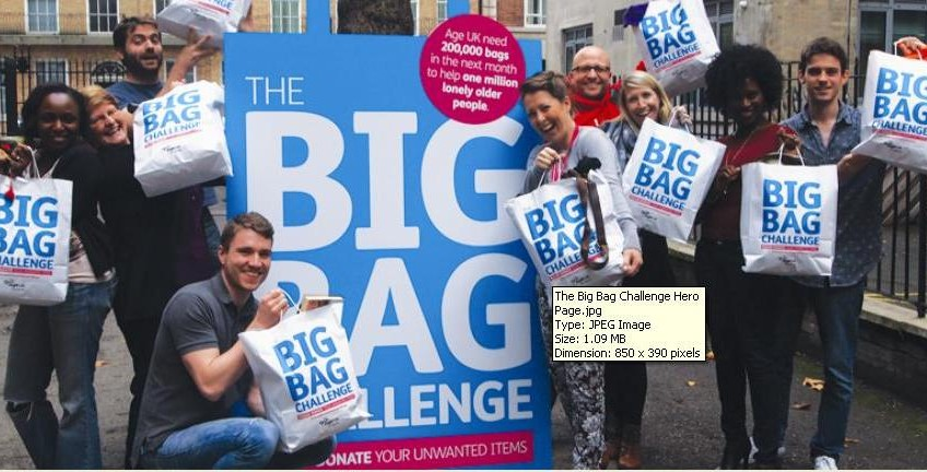 Clear your clutter to support The Big Bag Challenge