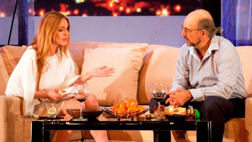 Lindsay Lohan makes her stage debut