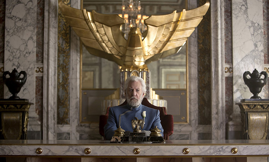 Donald Sutherland in The Hunger Games: Mockingjay – Part 1 - Photo Credit - Murray Close - Copyright 2014 - Lionsgate - Credit IMDB