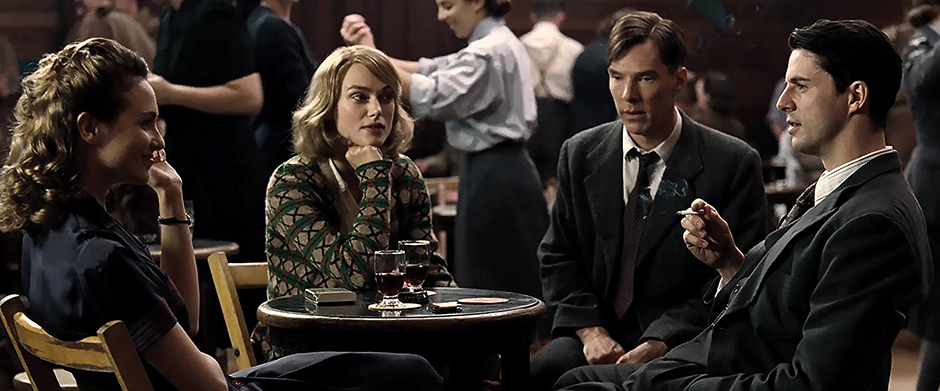 Matthew Goode, Keira Knightley, Benedict Cumberbatch and Tuppence Middleton in The Imitation Game - Credit IMDB
