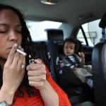 Smoking ban in cars containing children