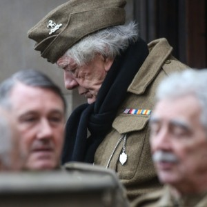 Michael Gambon who is playing the part of Private Godfrey