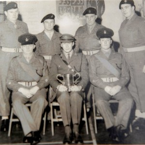 Malcolm Vickers back row, far right