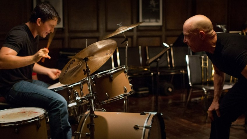 An Oscar-winning performance by J K Simmons in Whiplash
