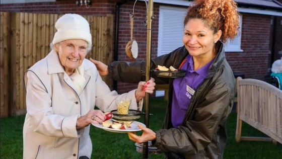 Feathered theme to activities at Care UK homes