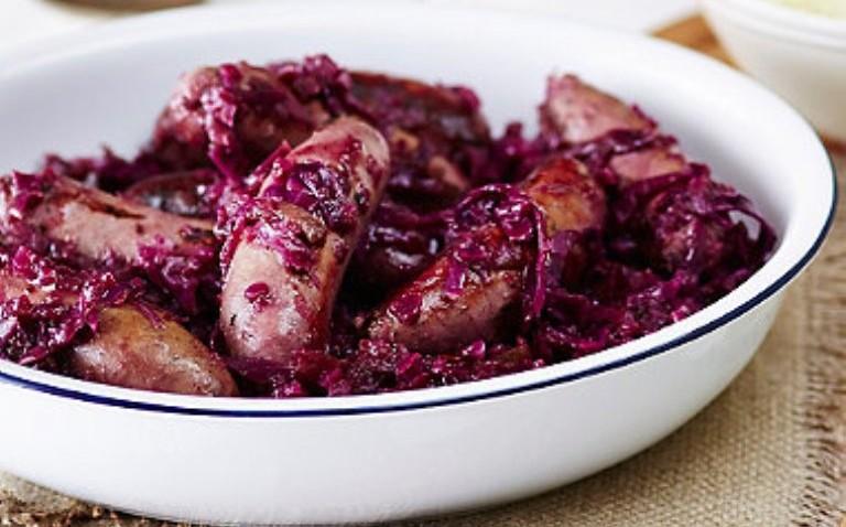 Sausage & Red Cabbage Casserole