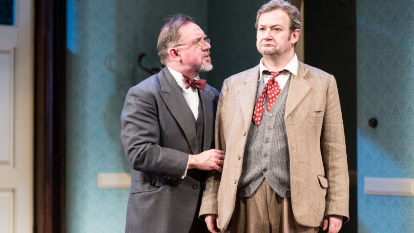 A six foot three and a half inch rabbit is on stage with James Dreyfus