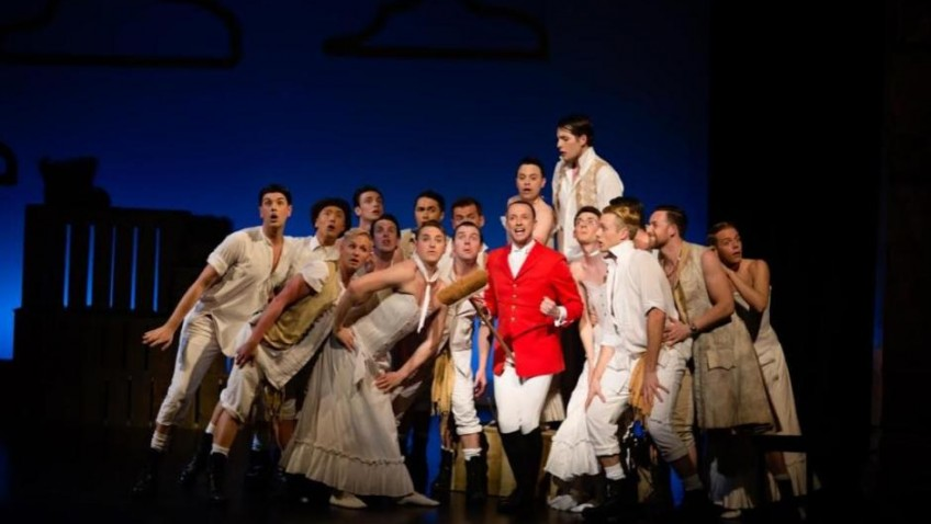 Sasha Regan's all male The Pirates of Penzance is touring the UK and is great fun.