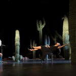 The safety-curtain came down in the middle of the show and stayed down – the ultimate critique