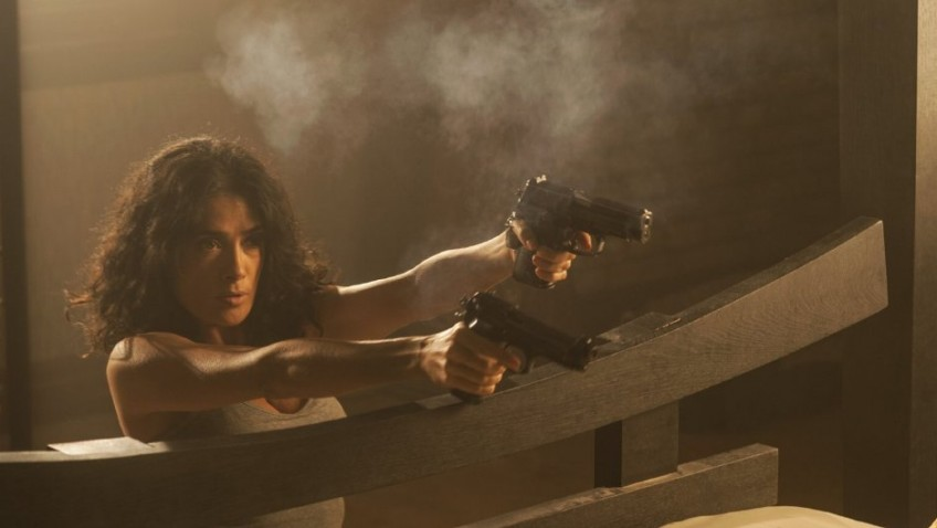 At 48, Salma Hayek is back in action, but Everly is unworthy of her talents.