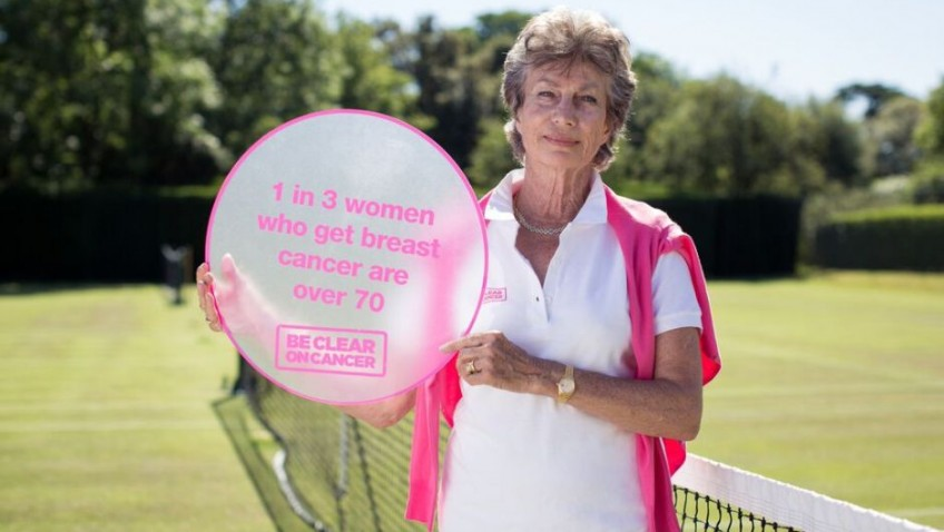 Virgina Wade supports over 70s breast cancer campaign