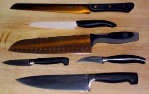Kitchen knives wikimedia image