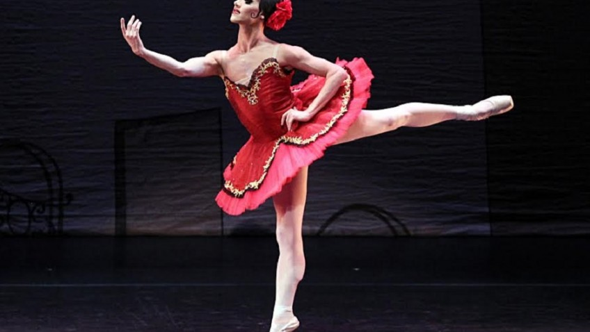 It isn't every day you see male dancers in tutus and pointe shoes.