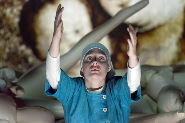 Romola Garai in Measure for Measure at the Young Vic. Photo by Keith Pat...
