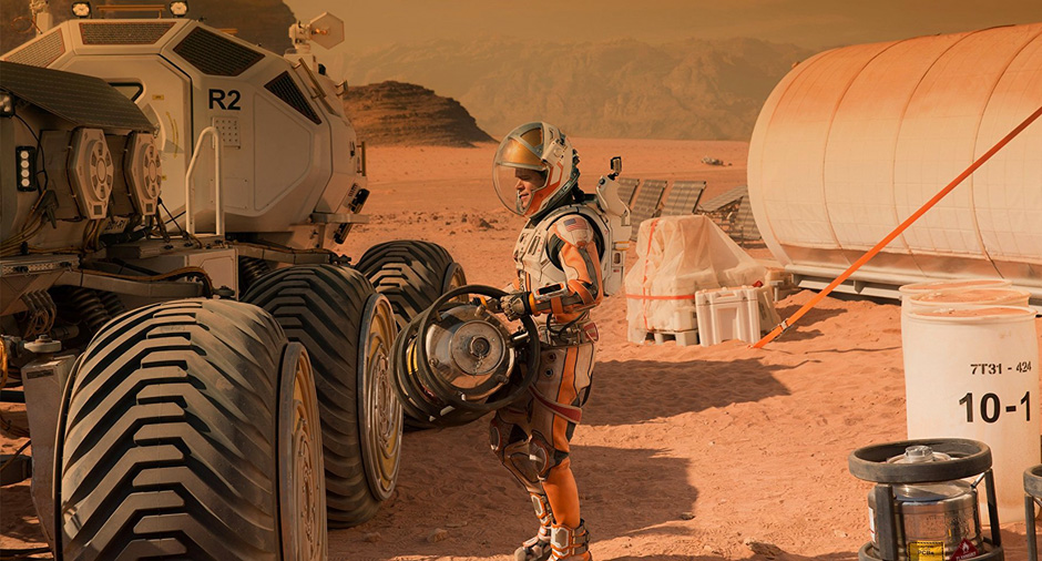 Matt Damon in The Martian - Credit IMDB