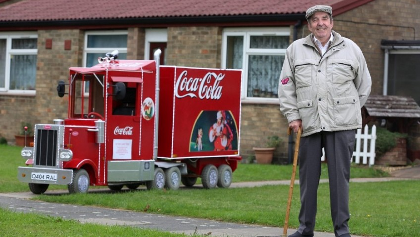 Granddad transforms mobility scooter into Christmas Coca-Cola truck
