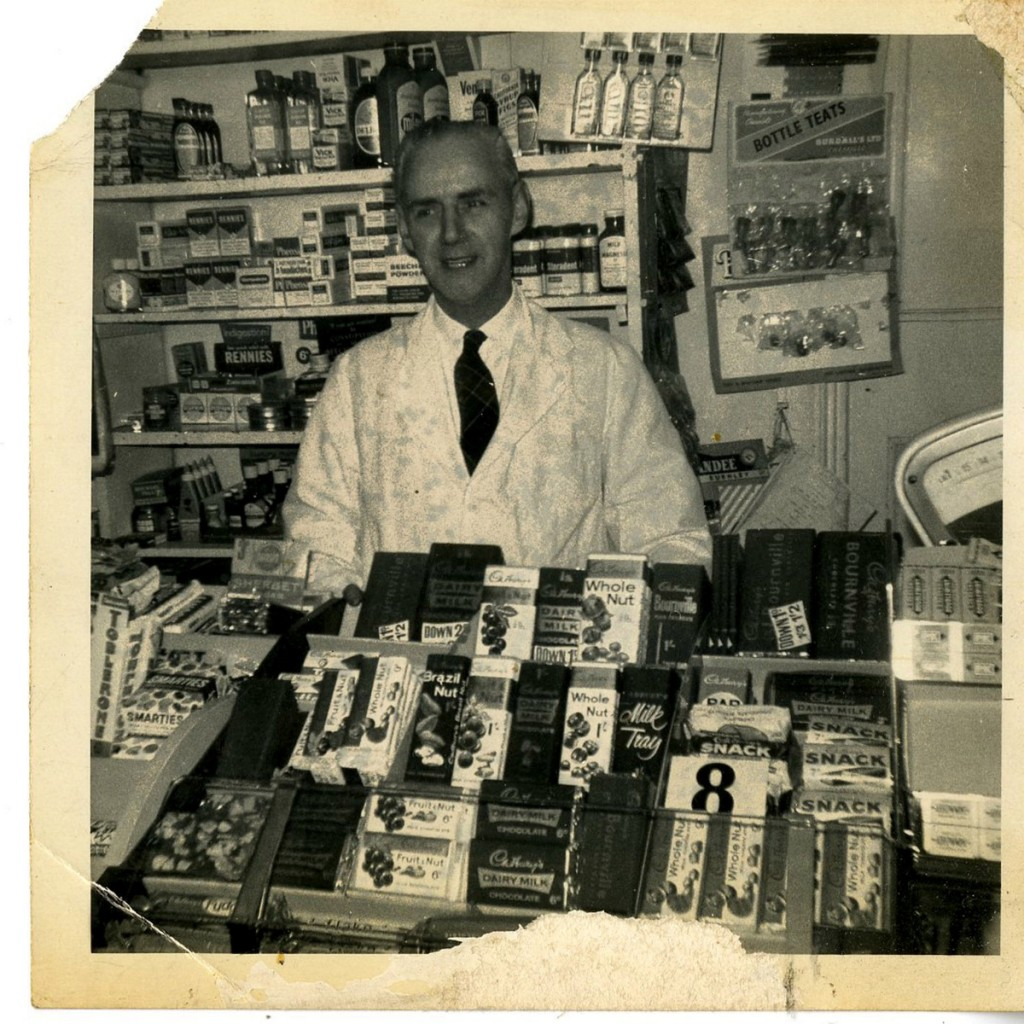 Pictured is Don Olivant's father, postmaster Alfred Henry Olivant, at the store in the 1950's. See Newsteam story NTIPOST; A couple believed to be Britain's longest serving postmasters have finally retired - after almost 60 YEARS. Don and Joyce Olivant, both 71, have decided to bid farewell to their local post office which has been run by their family since 1947. Yesterday (Tue) the couple weighed their final parcels and arranged their last deliveries at Cherry Tree Hill Post Office, in Chaddesden, Derby. They have both provided a first-class service behind the counter of the store since 1978 but Don has been working there since he was 14-years-old. His father Alfred set up the business in 1947 and he became the country's youngest postmaster in 1968 when he took it over at the age of 23.