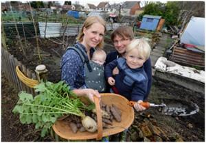 The Podd family The Edible Garden Show