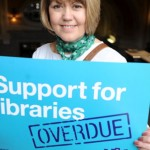 Parliament lobby by library staff against cuts on February 9th