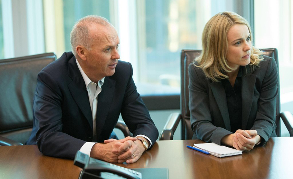 Michael Keaton and Rachel McAdams in Spotlight - Credit IMDB