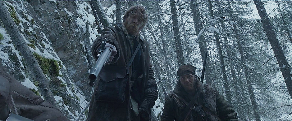 Tom Hardy and Domhnall Gleeson in The Revenant - Credit IMDB