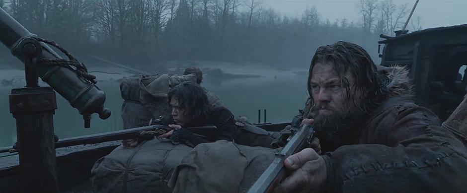 Leonardo DiCaprio and Forrest Goodluck in The Revenant - Credit IMDB