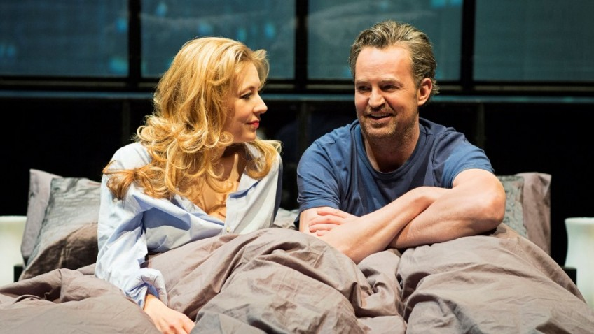 Matthew Perry famous for Friends on stage in a play he has written
