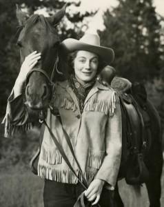 Sarah Churchill at Joyce Hall's ranch at Grand Lake, Colorado - Copyright Churchill Archives Centre / SWNS Group - Credit Churchill Archives Centre / SWNS