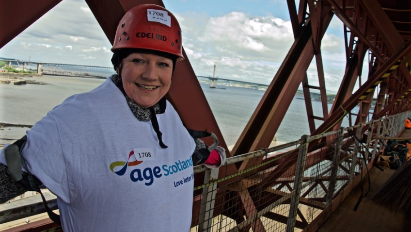 Abseil 165ft down the iconic Forth Rail Bridge for Age Scotland!