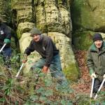 Volunteers rock on