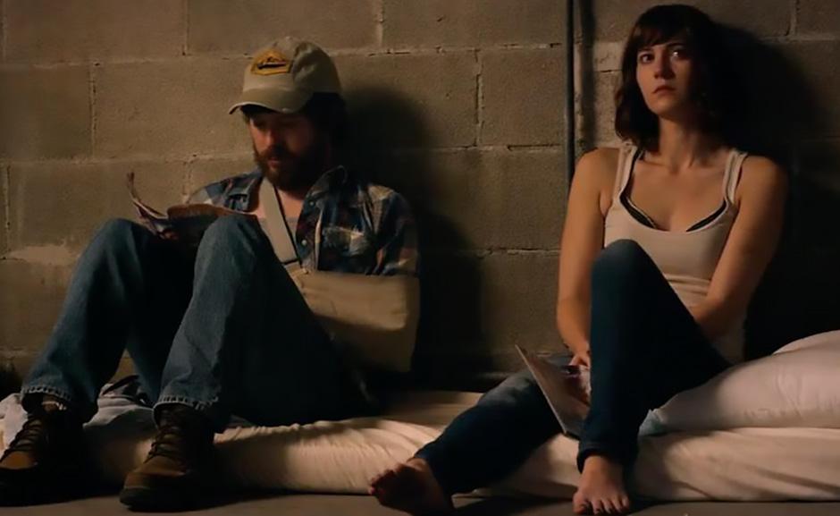 John Gallagher Jr. and Mary Elizabeth Winstead in 10 Cloverfield Lane - Credit IMDB