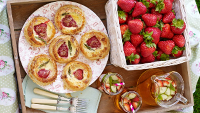 BerryWorld strawberry & British asparagus mini quiches