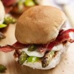 Asparagus, mozzarella & bacon sliders