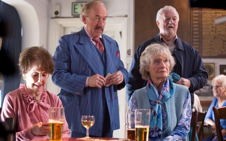 Simon Callow, Bernard Hill, Virginia McKenna and Una Stubbs in Golden Years