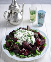 Moroccan beetroot & herb salad with natural yogurt dressing