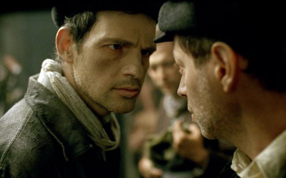 Still of Géza Röhrig, Levente Molnár and Amitai Kedar in Son of Saul (2015) - Credit IMDB