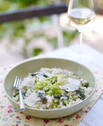 Spring onion & asparagus risotto