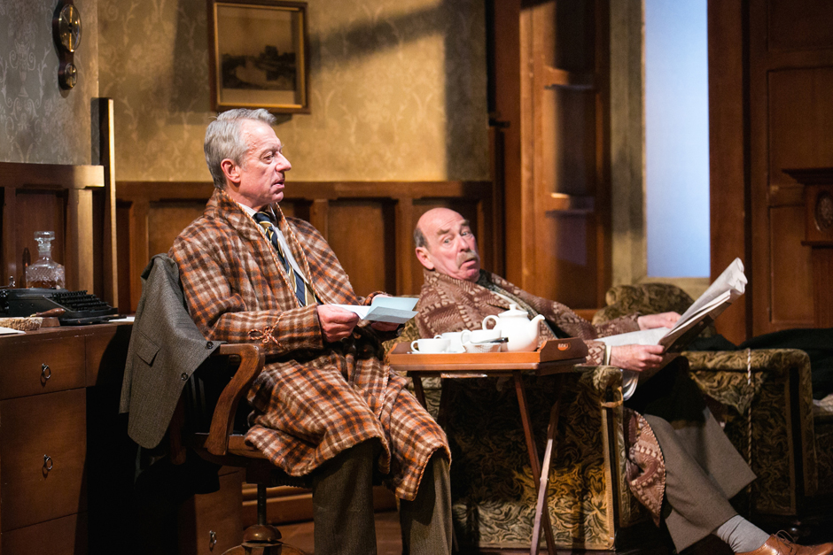 Stephen Boxer as C.S. Lewis and Denis Lill as Major W.H. Lewis in Shadowlands. Credit Jack Ladenburg