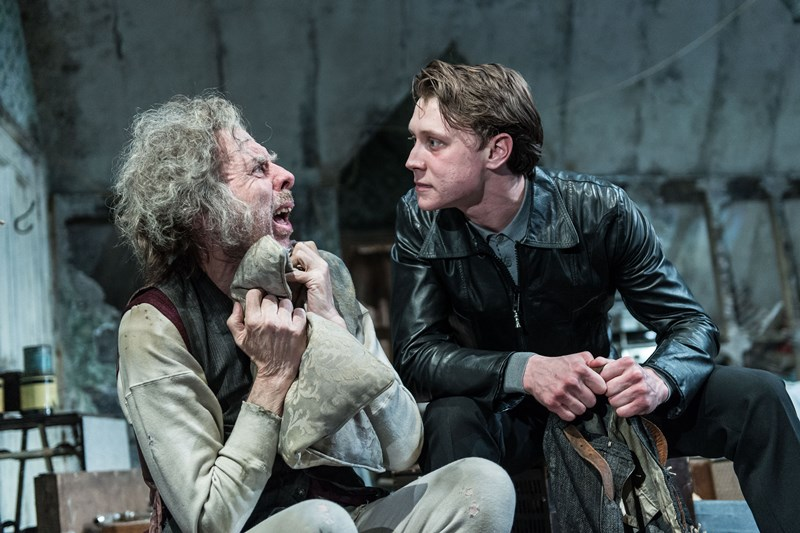 Timothy Spall and George McKay in The Caretaker