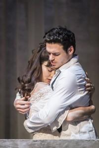 Romeo and Juliet in hug
