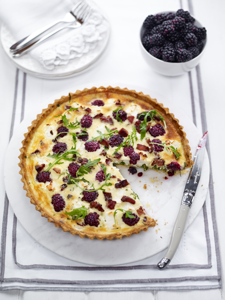 Edd Kimber's BerryWorld Blackberry and Goats Cheese Quiche